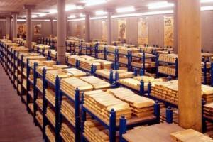 Где храниться золотой запас России?