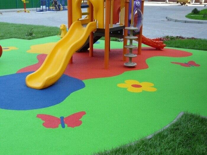 Как сделать покрытие для детской площадки 656